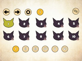 Rhythm Cat Menu Page